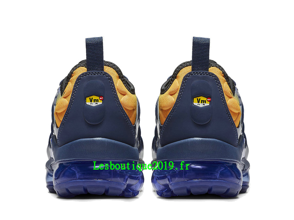 official photos 11a45 a9c46 ... Nike Air VaporMax Plus Utility Blue Orange Men´s Officiel Running Prix  Shoes AO4550-