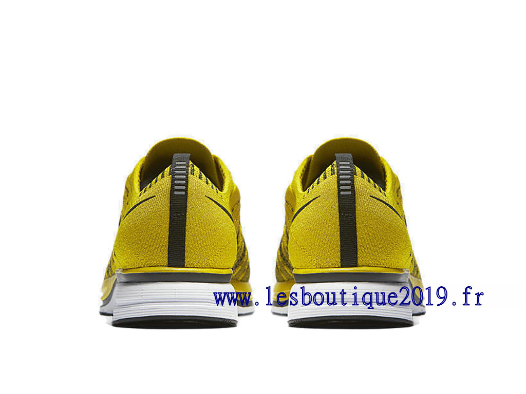 best sneakers a2030 a0c73 ... Nike Flyknit Trainer Bright Citron Jaune Noir Chaussures Nike Running  Pas Cher Pour Homme AH8396-