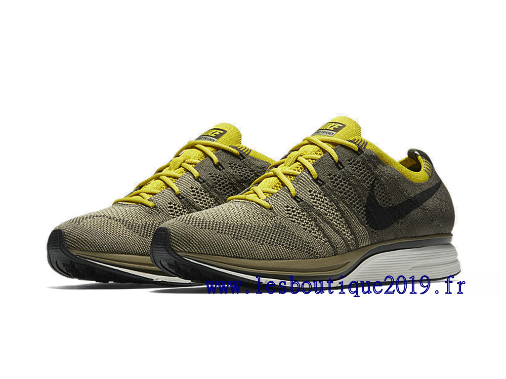 outlet store sale 569a5 0429b ... Nike Flyknit Trainer Cargo Khaki Men´s Nike Running Shoes ...