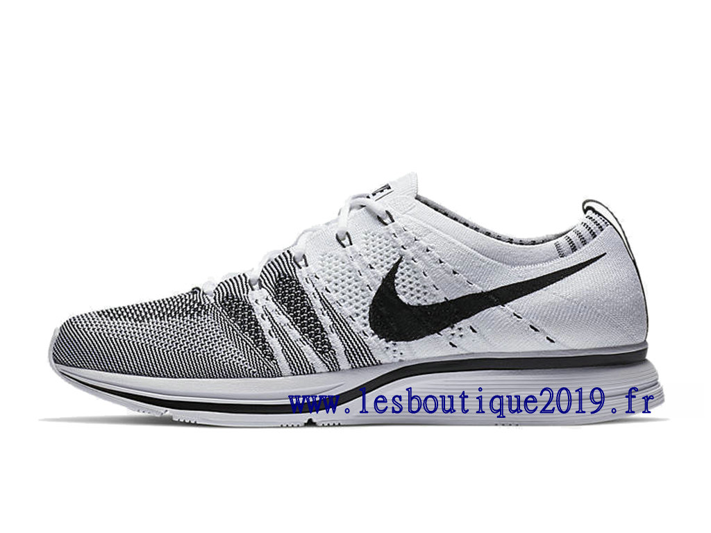3fbee176e8c0 Nike Flyknit Trainer White Black Men´s Nike Running Shoes AH8396-100 ...