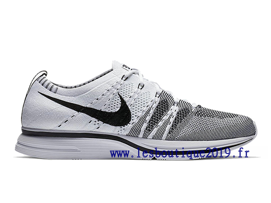 Nike Flyknit Trainer White Black Chaussures Nike Running Pas Cher Pour Homme AH8396-100