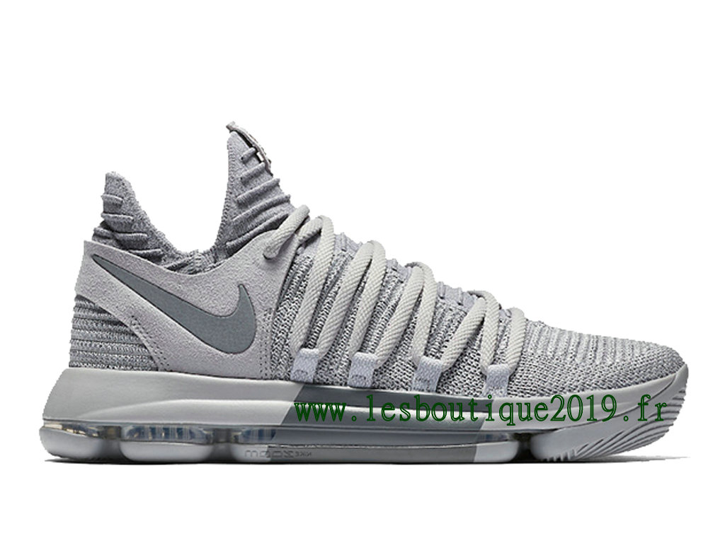 Nike KD 10 Wolf Grery Cool Grey Chaussure de BasketBall Pas Cher Pour Homme 897815-007