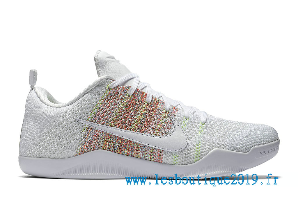 Nike Kobe 11 Elite Low 4KB Chaussures Nike BasketBall Pas Cher Pour Homme White Multi Color 824463_199