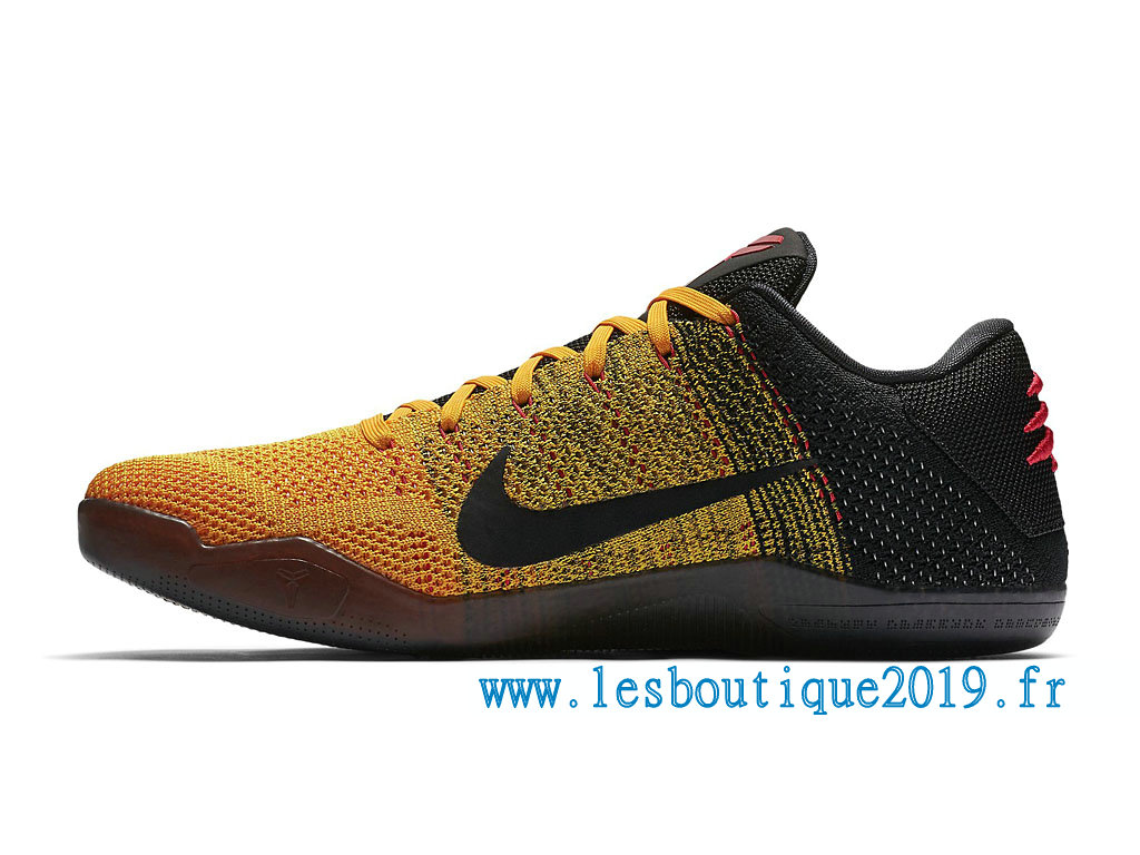 official photos 3df2a d4628 ... Nike Kobe 11 Elite Low Bruce Lee Chaussures Nike BasketBall Pas Cher  Pour Homme Jaune Noir ...