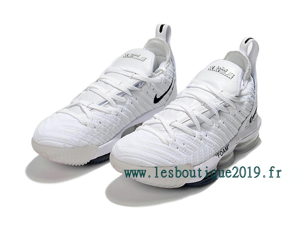 177f7ce1650 Nike LeBron 16 White Black Men´s Nike BasketBall Shoes 201809-ID1 ...