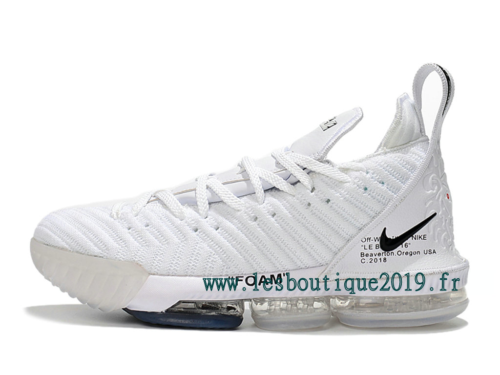 81b46e9396c1 Nike LeBron 16 White Black Men´s Nike BasketBall Shoes 201809-ID1 ...