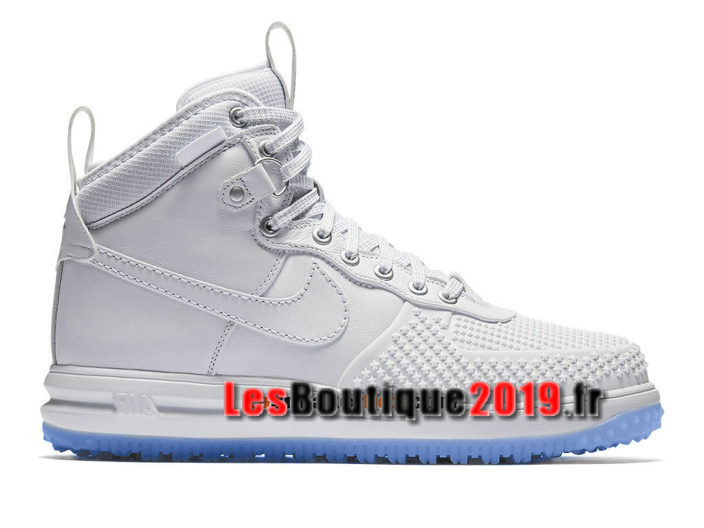 timeless design 82af2 4b122 Nike Lunar Force 1 Flyknit Workboot Chaussures Nike Prix Pas Cher Pour Homme  Blanc 805899- ...