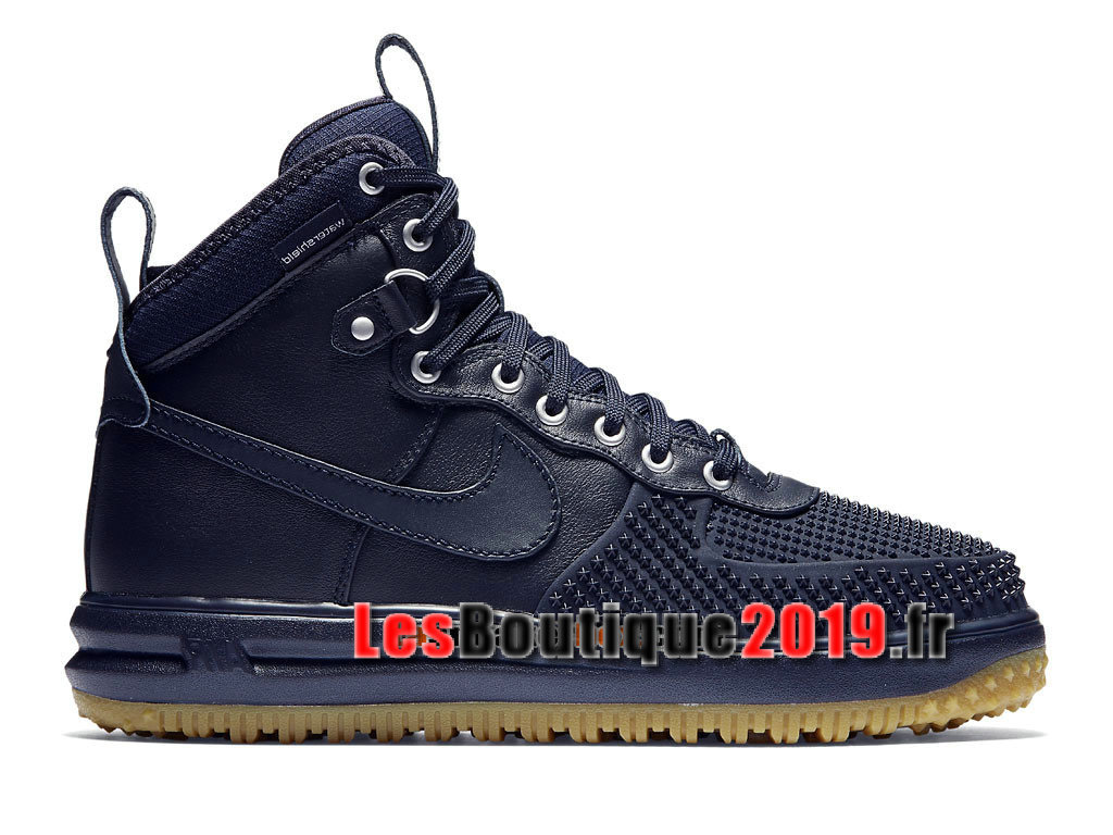 hot sale online ebf0f 66a73 Nike Lunar Force 1 Flyknit Workboot Chaussures Nike Prix Pas Cher Pour Homme  Bleu 805899- ...
