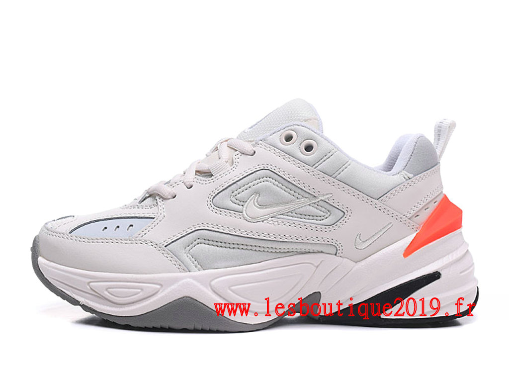 Nike M2K Tekno Blanc Orange Chaussures Nike Running Pas Cher Pour Homme AO3108-101
