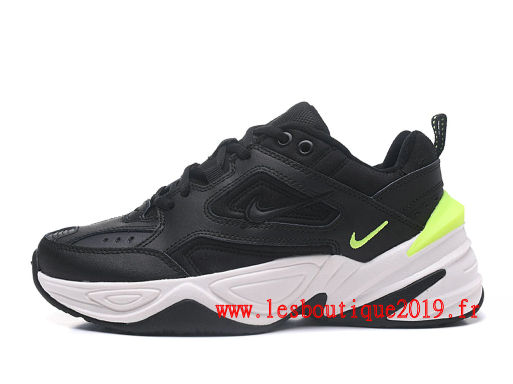 Nike M2K Tekno Noir Blanc Chaussures Nike Running Pas Cher Pour Homme AO3108-002