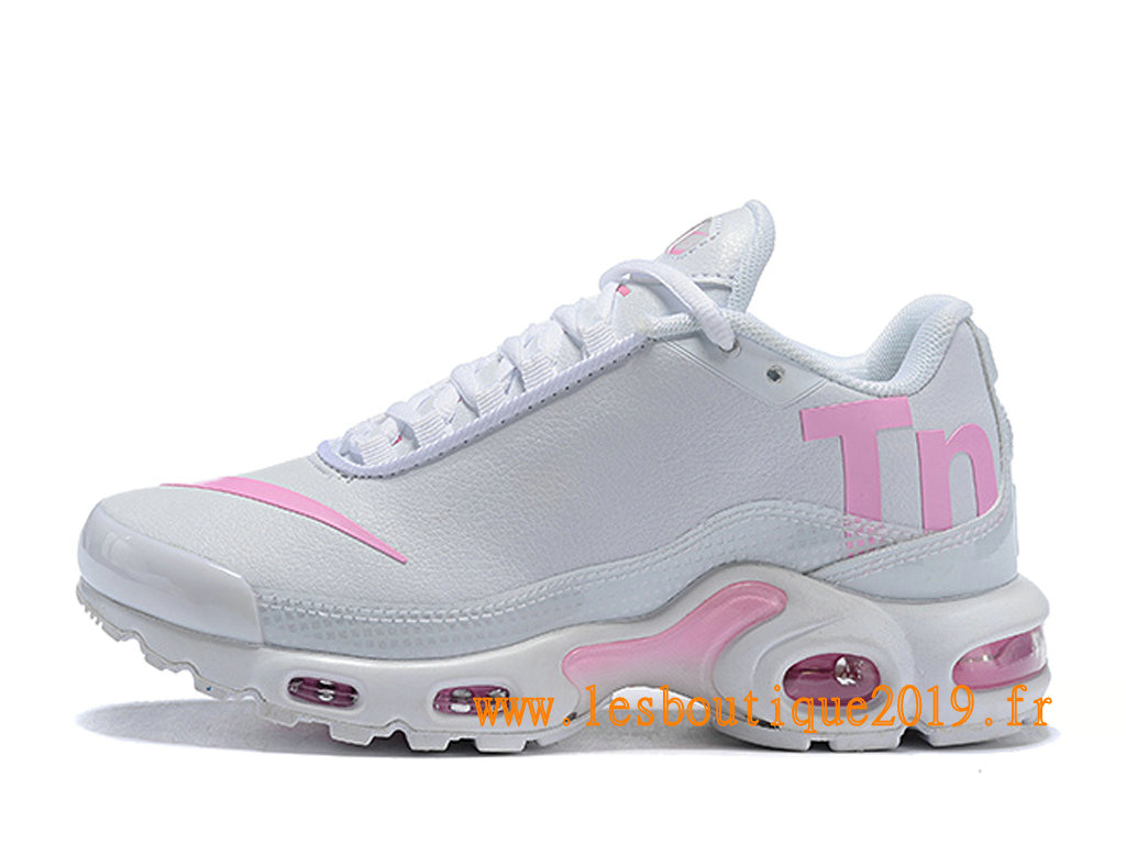 Nike Mercurial Air Max Plus Tn Chaussures Nike Running Pas Cher Pour Homme Blanc Rose