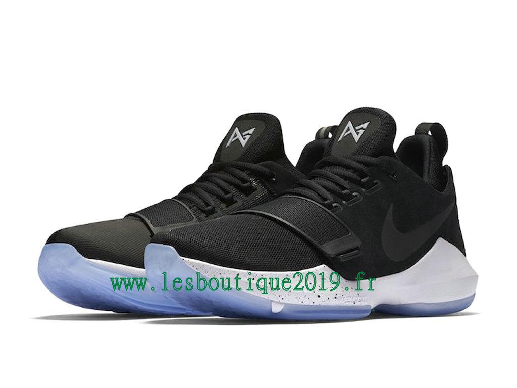 new product d43ea 4c3e0 ... Nike PG 1 Hyper Turquoise Noir Blanc Chaussures de BasketBall Pas Cher  Pour Homme 878627- ...