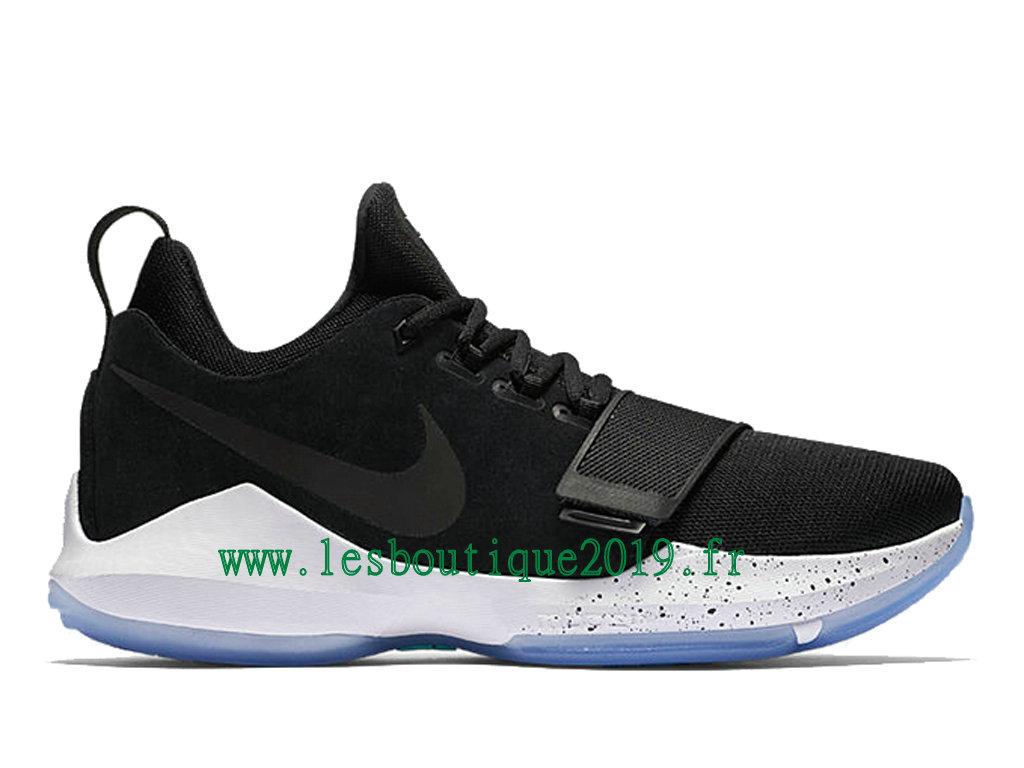 best service 49fe7 b6cf3 Nike PG 1 Hyper Turquoise Noir Blanc Chaussures de BasketBall Pas Cher Pour Homme  878627- ...
