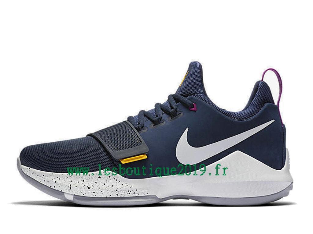 ... Nike PG 1 The Bait Bleu Blanc Chaussures de BasketBall Pas Cher Pour  Homme 878627- ... d053b41e17