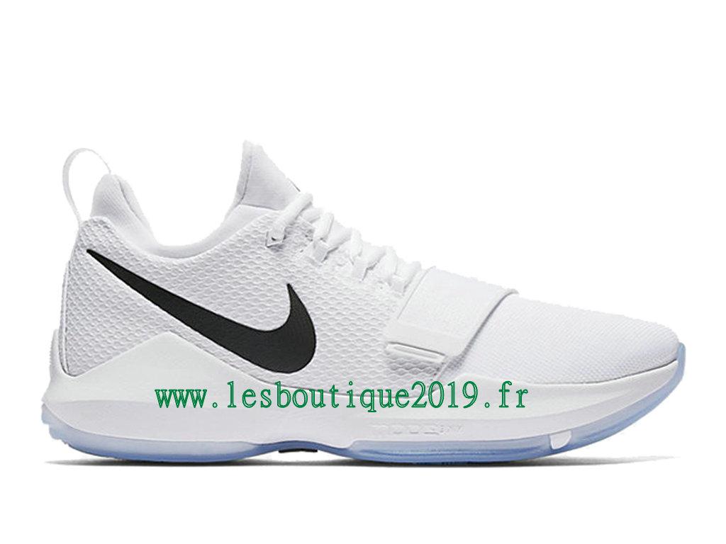 sale retailer 0cd60 0d607 Nike PG 1 White Black Ice Blue Chaussures de BasketBall Pas Cher Pour Homme  878627-