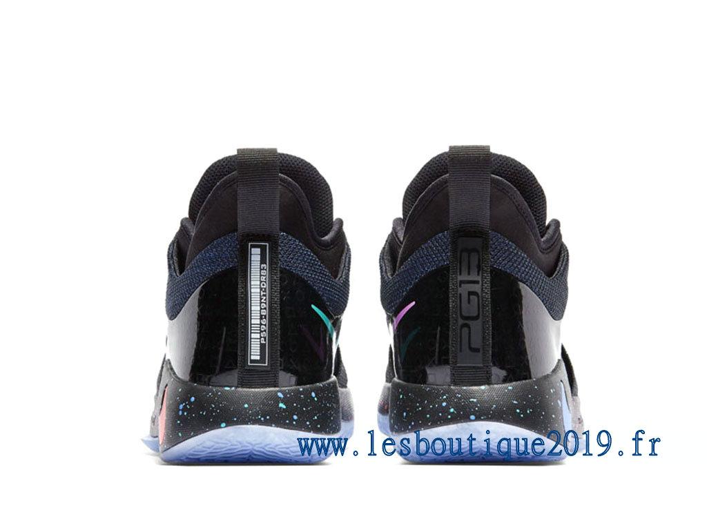 ... Nike PG 2 Playstation PS EP Black Racer Blue Chaussures de BasketBall  Pas Cher Pour Homme 412c69a53