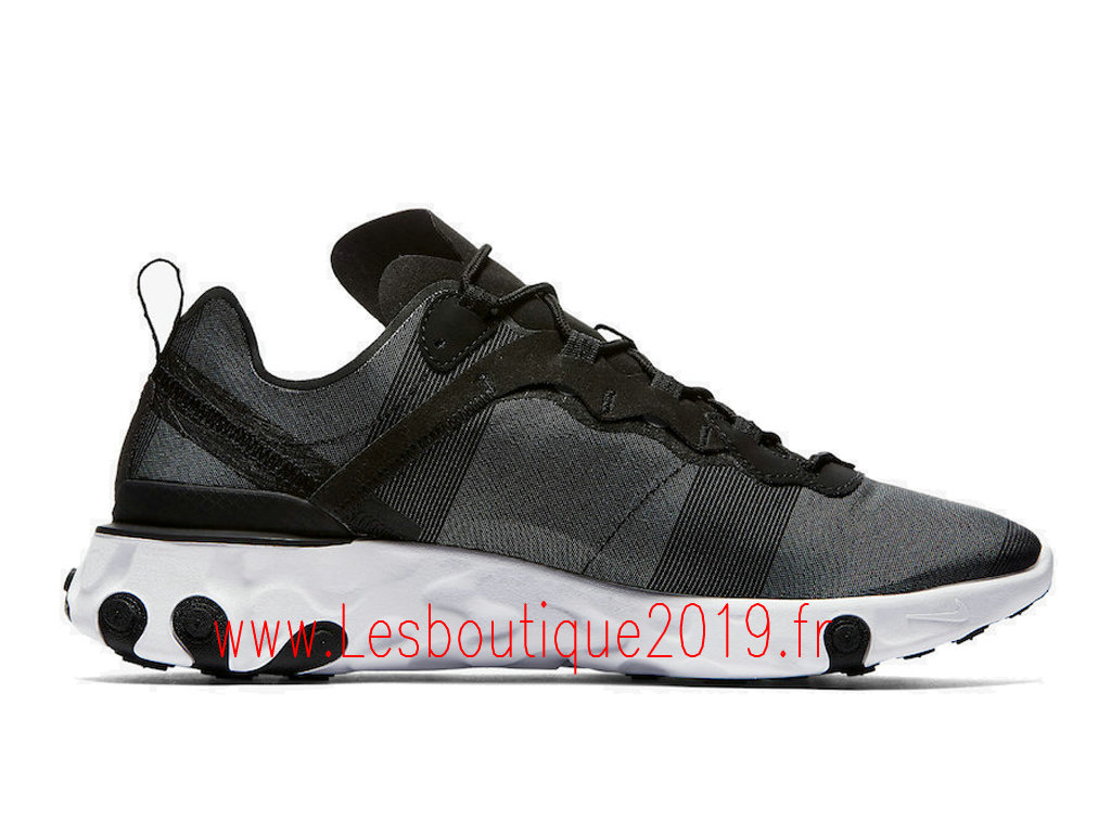 Nike React Element 55 Chaussures nike pas cher Pour Homme Black White BQ6166-003