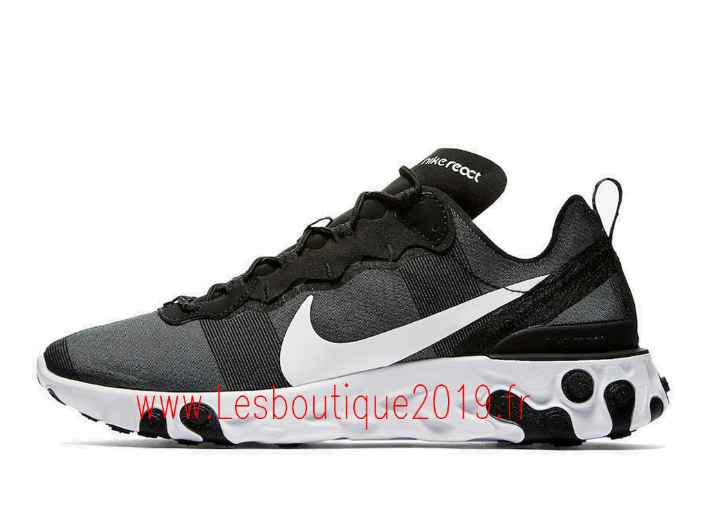 low priced 97648 7abe1 Nike React Element 55 Chaussures nike pas cher Pour Homme Black White  BQ6166-003 ...