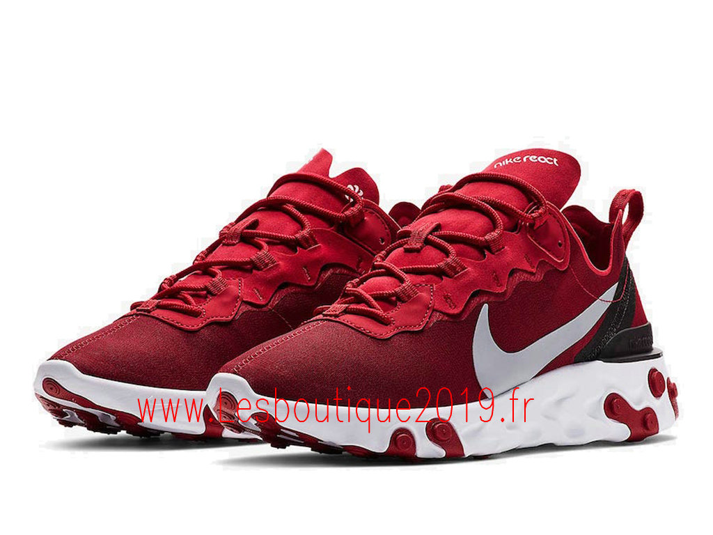 42a31f342b58 ... Nike React Element 55 Chaussures Nike Pas Cher Pour HOmme Gym Red  BQ6166-601 ...