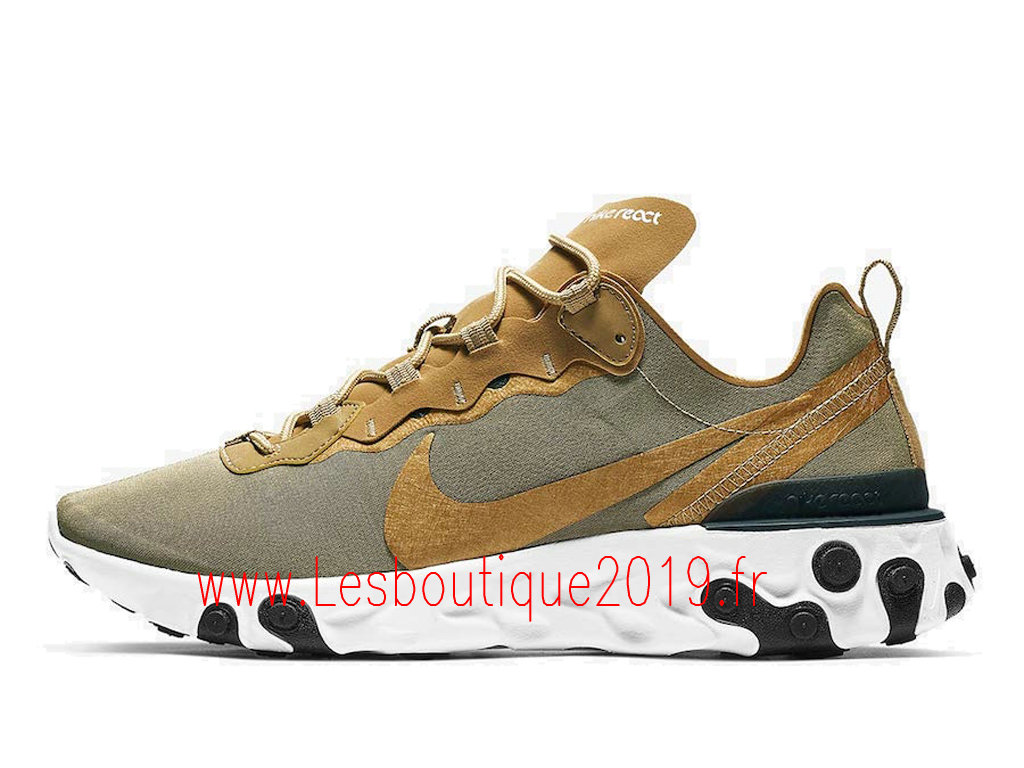 Nike React Element 55 Chaussures Nike Pas Cher Pour HOmme Metallic Gold Buying Guide BQ6166-700