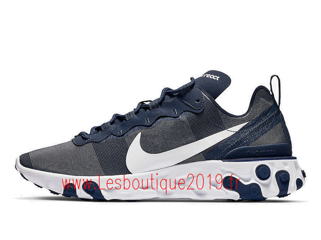 lowest price ccc15 dc51a Nike React Element 55 Chaussures nike pas cher Pour Homme Midnight Navy  BQ6166-401 ...