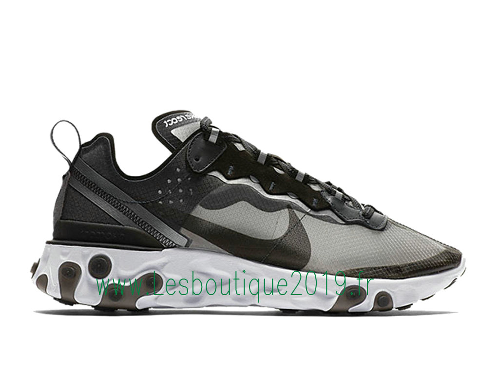 best sneakers e3dad 0119a Nike React Element 87 Anthracite AQ1090-001 Chaussures Officiel Running Pas  Cher Pour Homme Noir ...