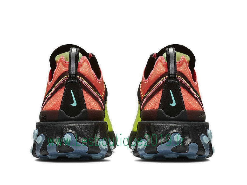 4134770485 ... Nike React Element 87 Aurora AQ1090-700 Men´s Officiel Running Shoes  Green Black