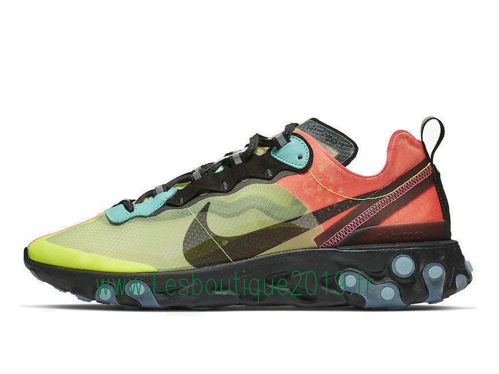 e238d4557f Nike React Element 87 Aurora AQ1090-700 Men´s Officiel Running Shoes Green  Black ...