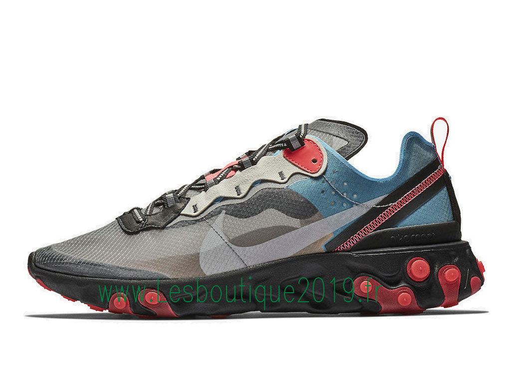 Nike React Element 87 Blue Chill Solar Red AQ1090-006 Chaussures Officiel Basket 2019 Pas Cher Pour HOmme