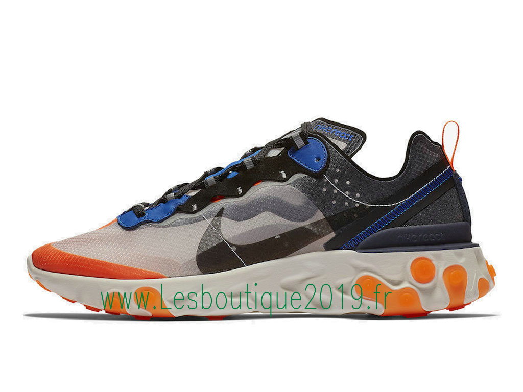 Nike React Element 87 Blue Orange AQ1090-004 Chaussures Officiel Running Pas Cher Pour Homme