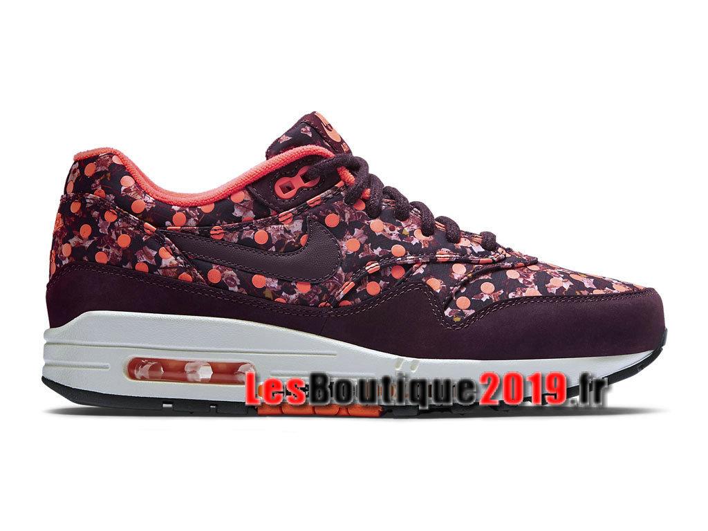 reputable site 076f8 7b62b Nike Wmns Air Max 1/87 LIB QS Liberty Belmont Ivy Burgundy Chaussures Nike  2018
