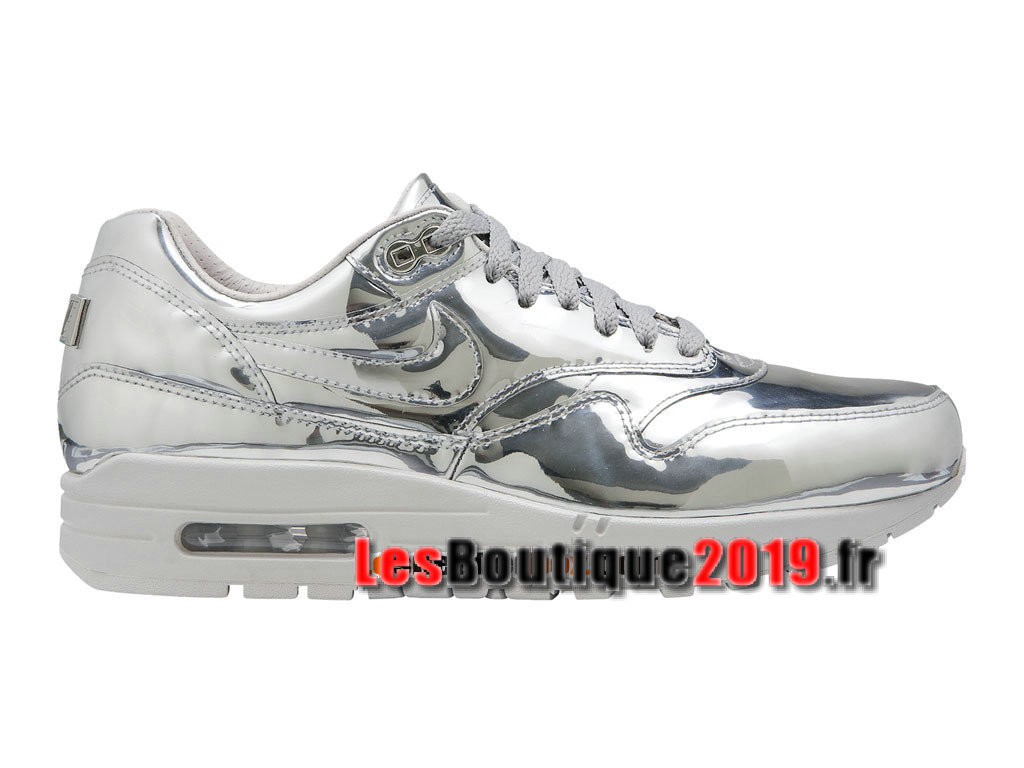 super popular 378f2 0f1e8 Nike Wmns Air Max 1 87 SP Liquid Metal Silver Chaussures de BasketBall Pas  Cher ...