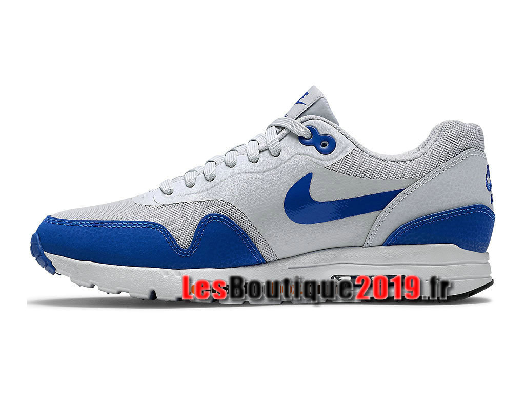 half off 885be 6e49c ... Nike Wmns Air Max 1 Ultra Essentials GS Blanc Bleu Chaussures de BasketBall  Pas Cher Pour ...
