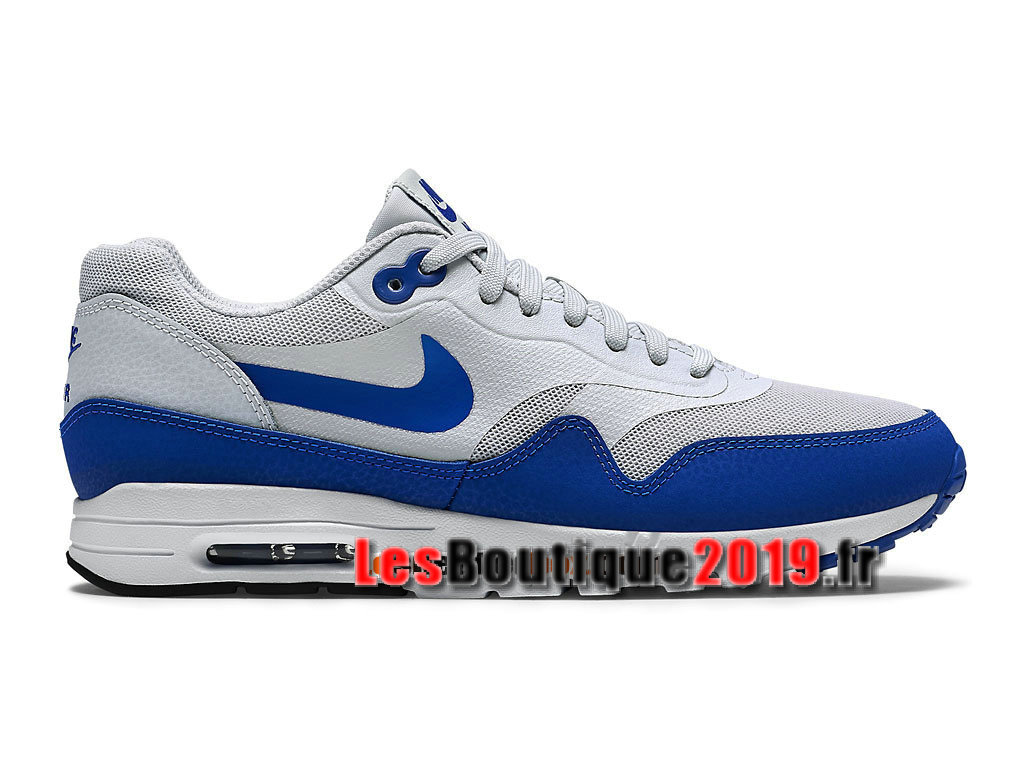 new product 06c7e fad9e Nike Wmns Air Max 1 Ultra Essentials GS Blanc Bleu Chaussures de BasketBall  Pas Cher Pour ...