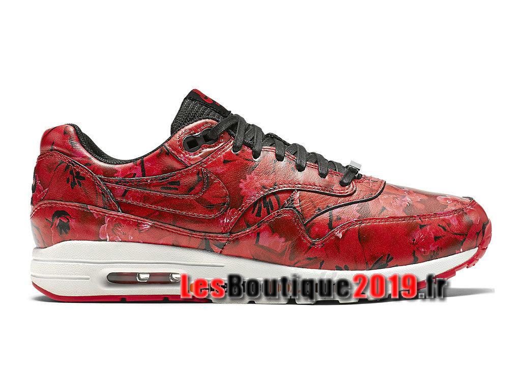 d3af9a65081b5 Nike Wmns Air Max 1 Ultra Lotc QS Shanghai Rouge Noir Chaussures Nike  Running Pas Cher ...