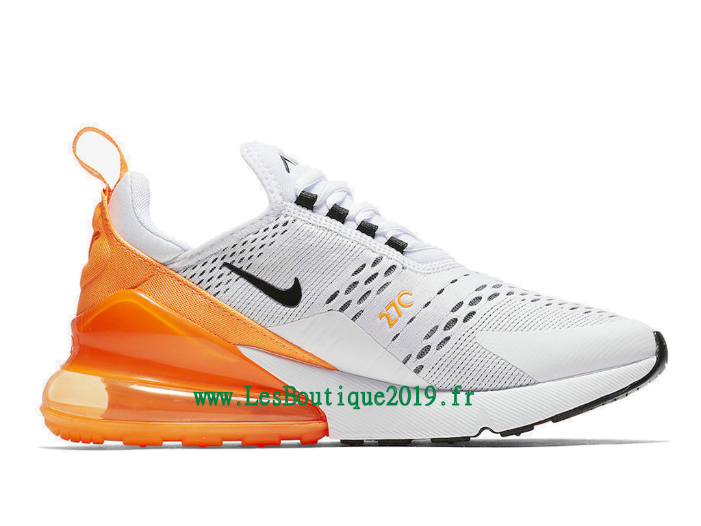 a2dd3adcf8bfd ... Nike Wmns Air Max 270 Chaussures Officiel Running Pas Cher Pour Femme  Blanc Orange AH6789- ...