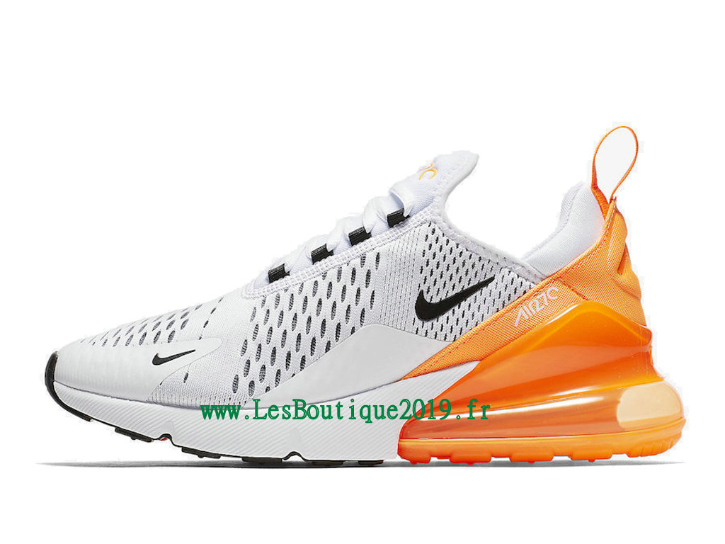 hot sale online 85d0d 9c951 Nike Wmns Air Max 270 Chaussures Officiel Running Pas Cher Pour Femme Blanc  Orange AH6789- ...