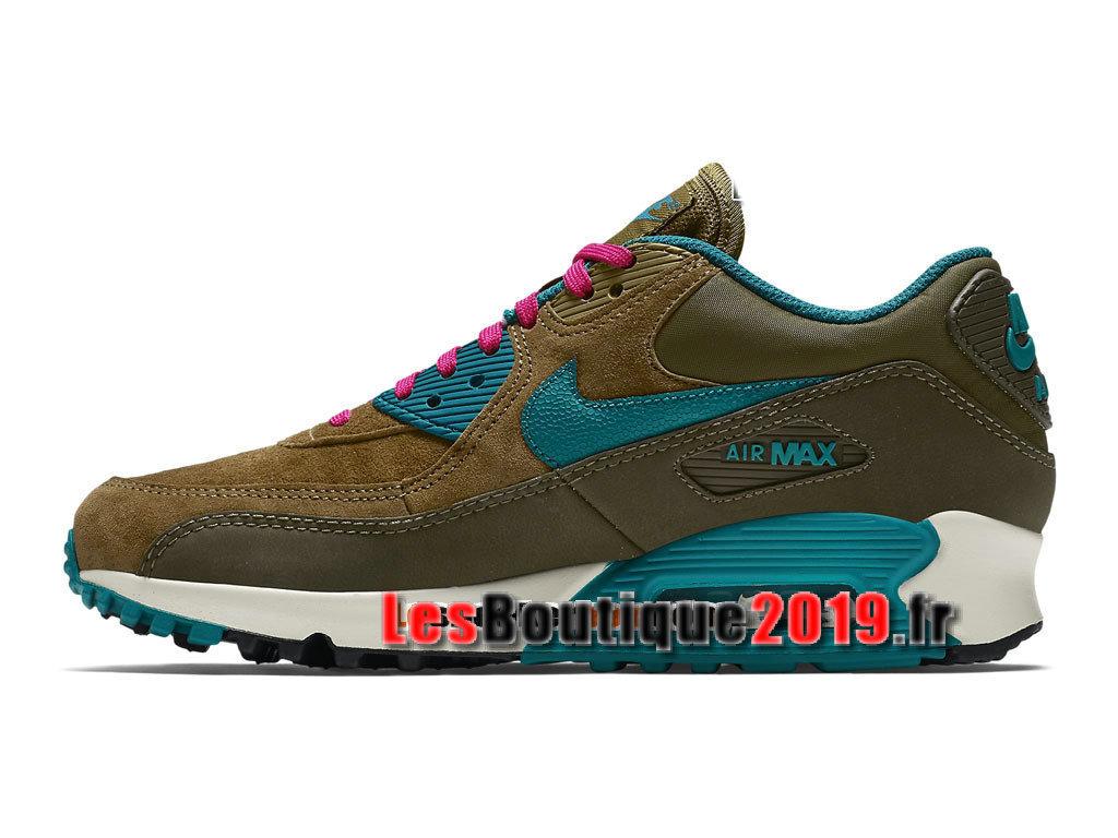 sports shoes 1b591 fa90a ... Nike Wmns Air Max 90 Leather LTR Brun Blue Women´s Kids´ ...