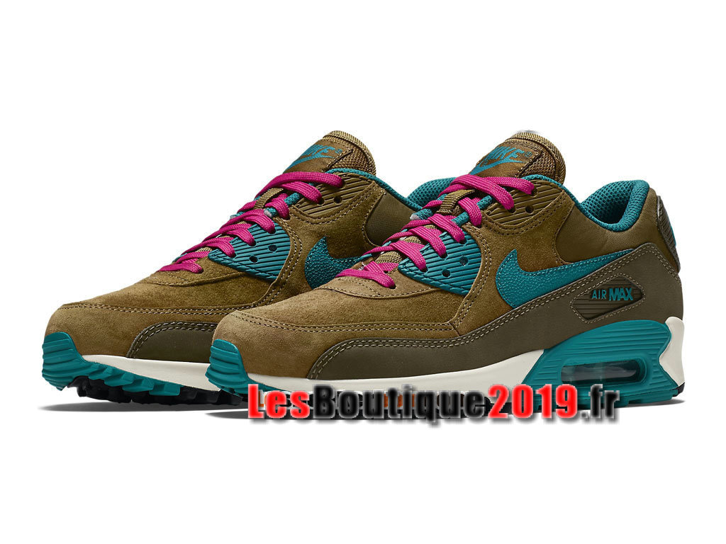 pretty nice 44fb8 1dc32 ... Nike Wmns Air Max 90 Leather LTR Brun Blue Women´s Kids´