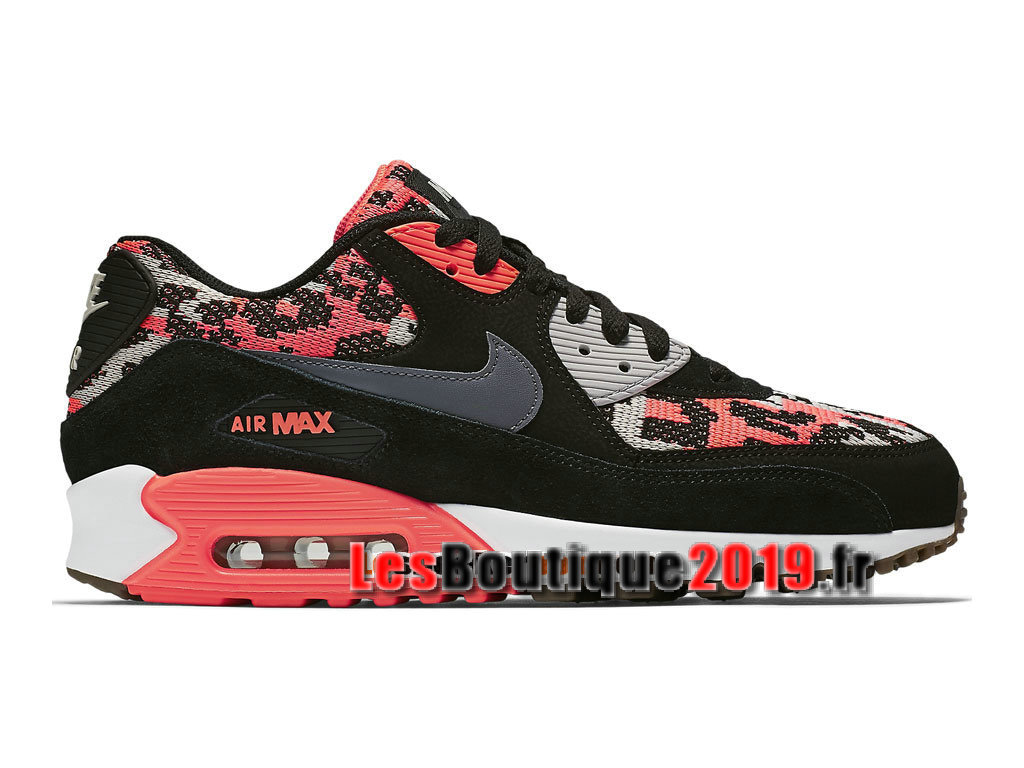 fd6179ced72 Nike Wmns Air Max 90 PA Noir Rose Chaussures Nike Running Pas Cher Pour  Femme  ...