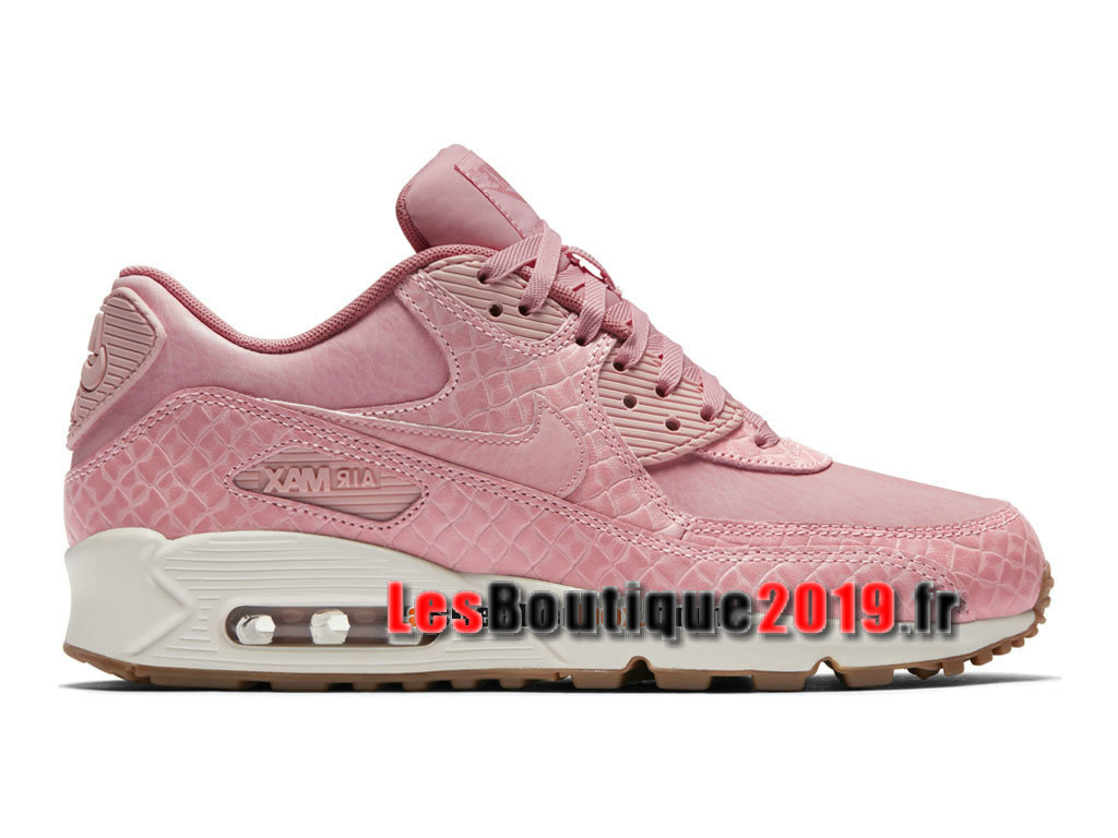 Nike Wmns Air Max 90 Premium Rose Blanc Chaussures Nike Running Pas Cher Pour Femme/Enfant 896497-600