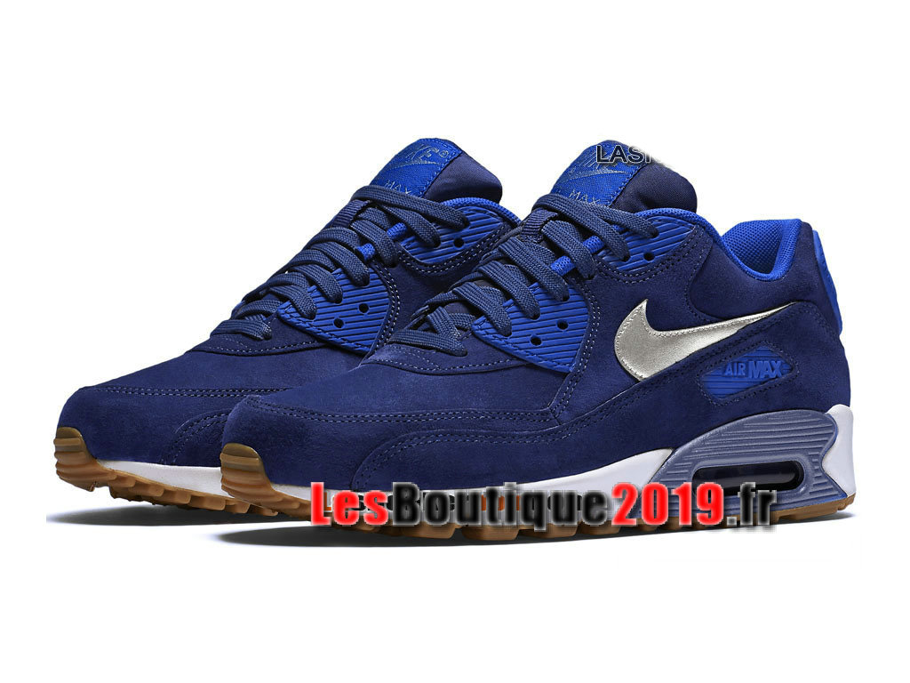 brand new 9dcb1 aabd8 ... Nike Wmns Air Max 90 Premium Suede Blue White Women´s Kids´s