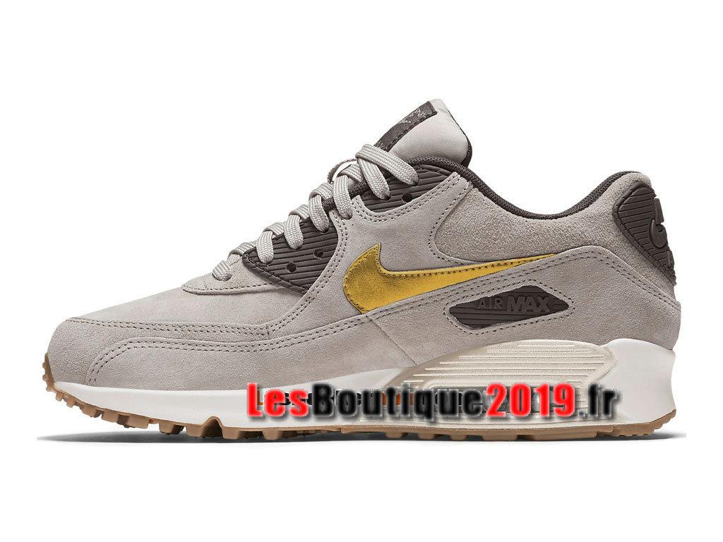 la meilleure attitude 61aad af311 Nike Wmns Air Max 90 Premium Suede Gris Or Chaussures Nike Running Pas Cher  Pour Femme/Enfant 818598-200 - 1808190466 - Achetez de Chaussure de ...