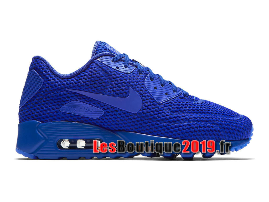 reputable site c6663 9603f Nike Wmns Air Max 90 Ultra Breathe Bleu Chaussures Nike Sportswear Pas Cher  Pour Femme  ...