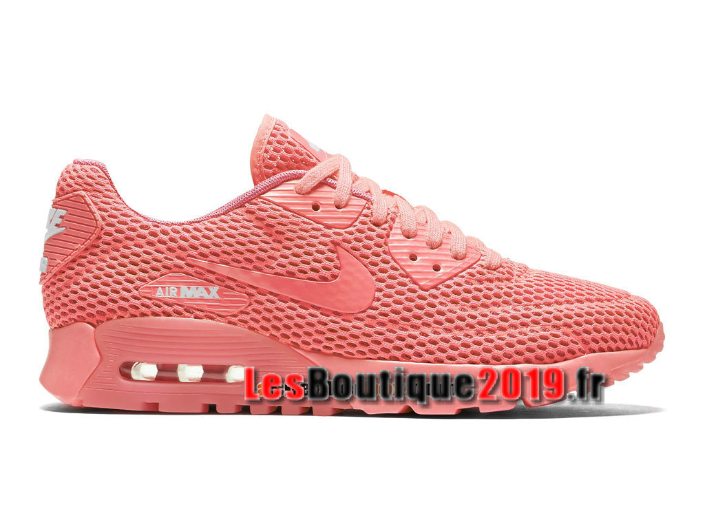70195be96e5 Nike Wmns Air Max 90 Ultra Breathe Rose Chaussures Nike Basket Pas Cher  Pour Femme  ...