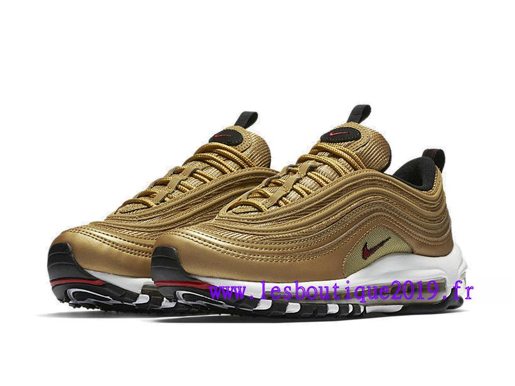 brand new ee675 c35aa ... Nike Wmns Air Max 97 Metallic Gold Chaussures de Running Pas Cher Pour  Femme Enfant ...
