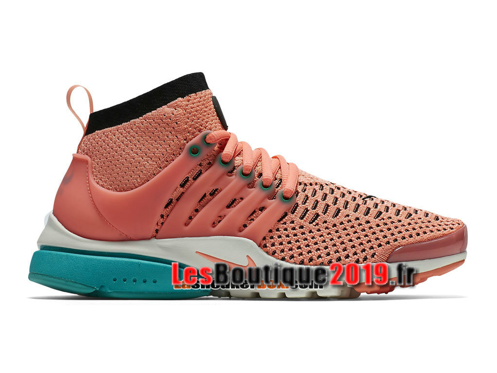 Nike Wmns Air Presto Ultra Flyknit Rose Vert Chaussures Nike Running Pas Cher Pour Femme/Enfant 835738-600