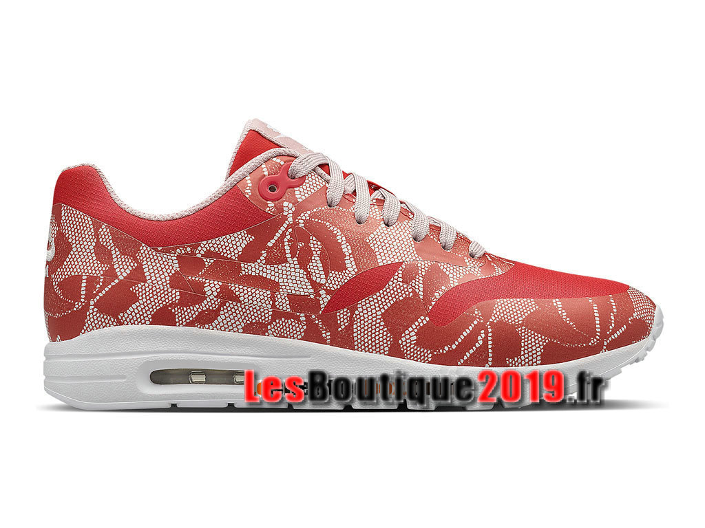 best value 85e10 aba1a NikeLab Lace Air Max 1 Ultra GS Rouge Chaussures Nike Sportswear Pas Cher  Pour Femme  ...