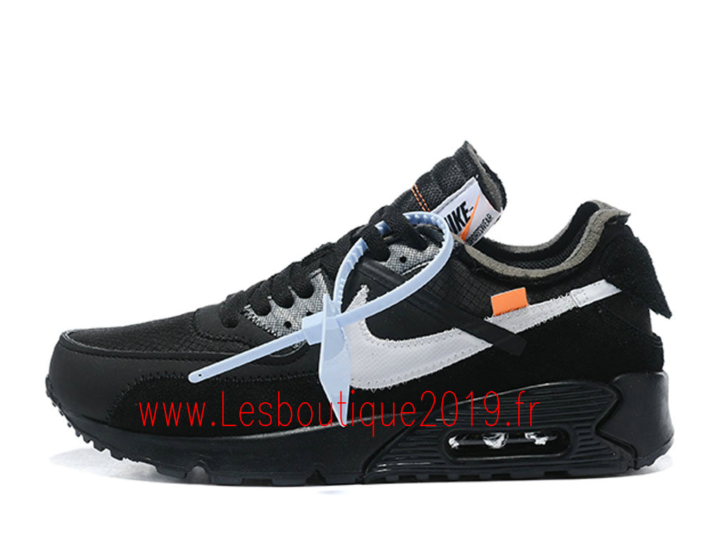 sneakers for cheap ae7c3 d496c Off-White x Nike Air Max 90 Black Cone Chaussures Nike Pas Cher Pour Homme  ...
