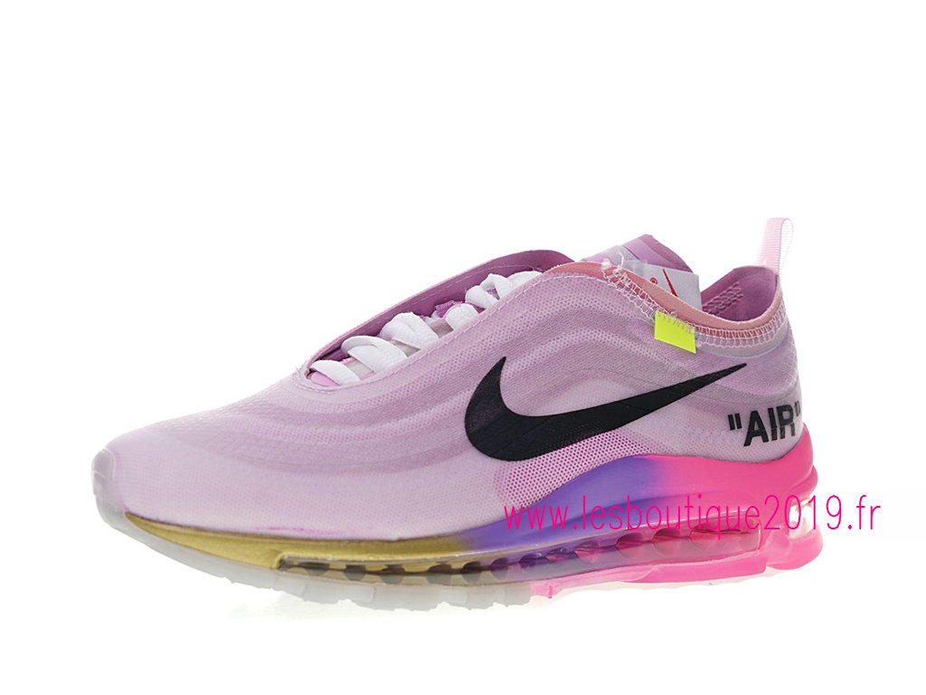 finest selection 307e8 d841e Off-White x Nike Air Max 97 GS Pink Black Women´s Nike Running Shoes ...